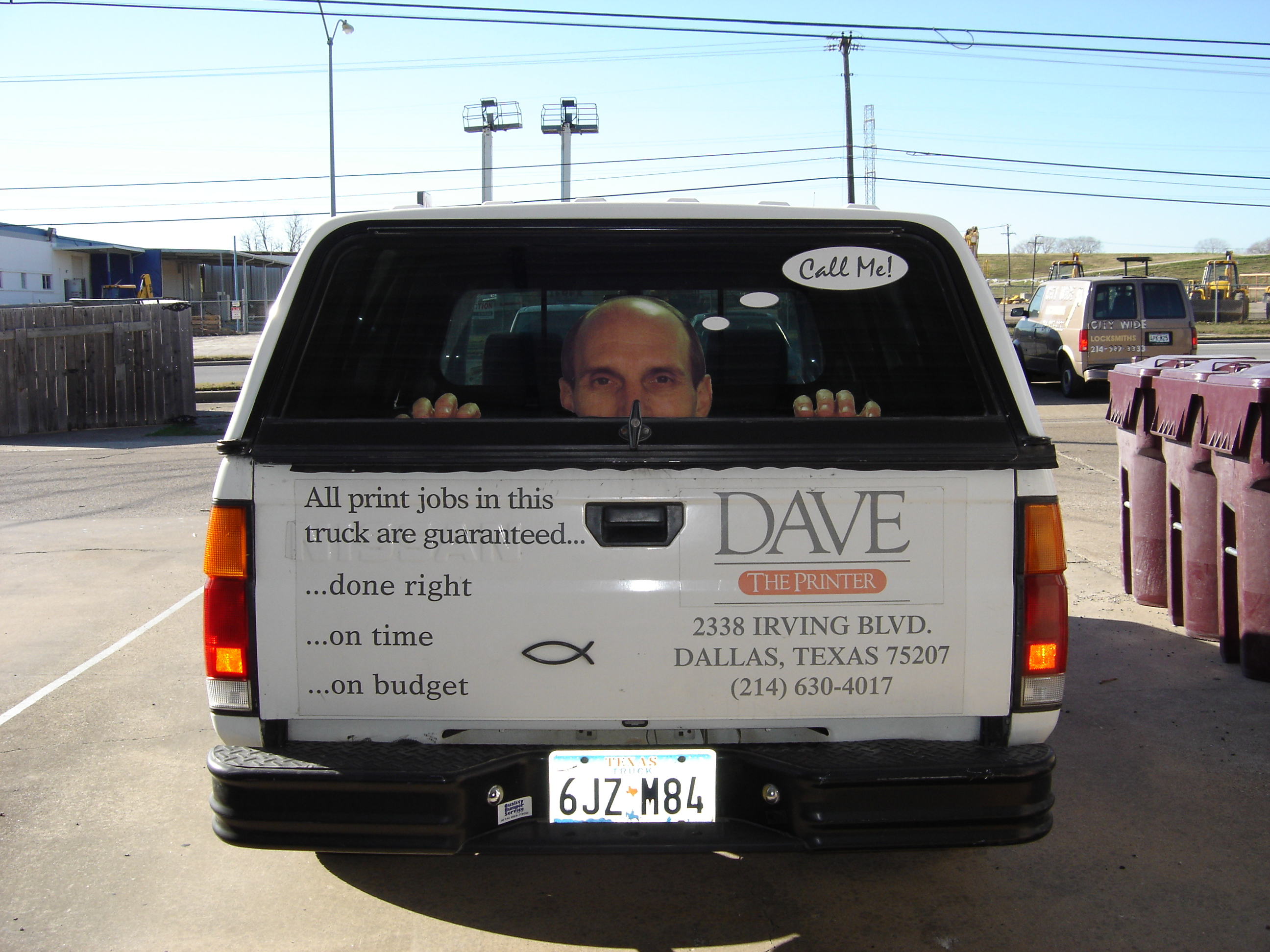 Dave the Printer guarantee