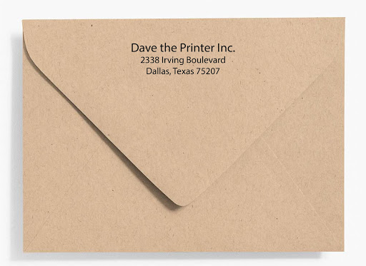 Envelope Flap Printed By Dave The Printer