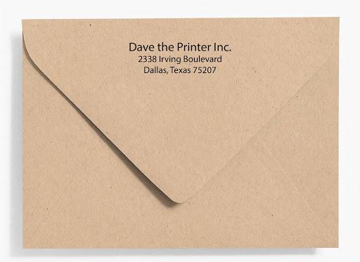 Addressed Envelope Flap