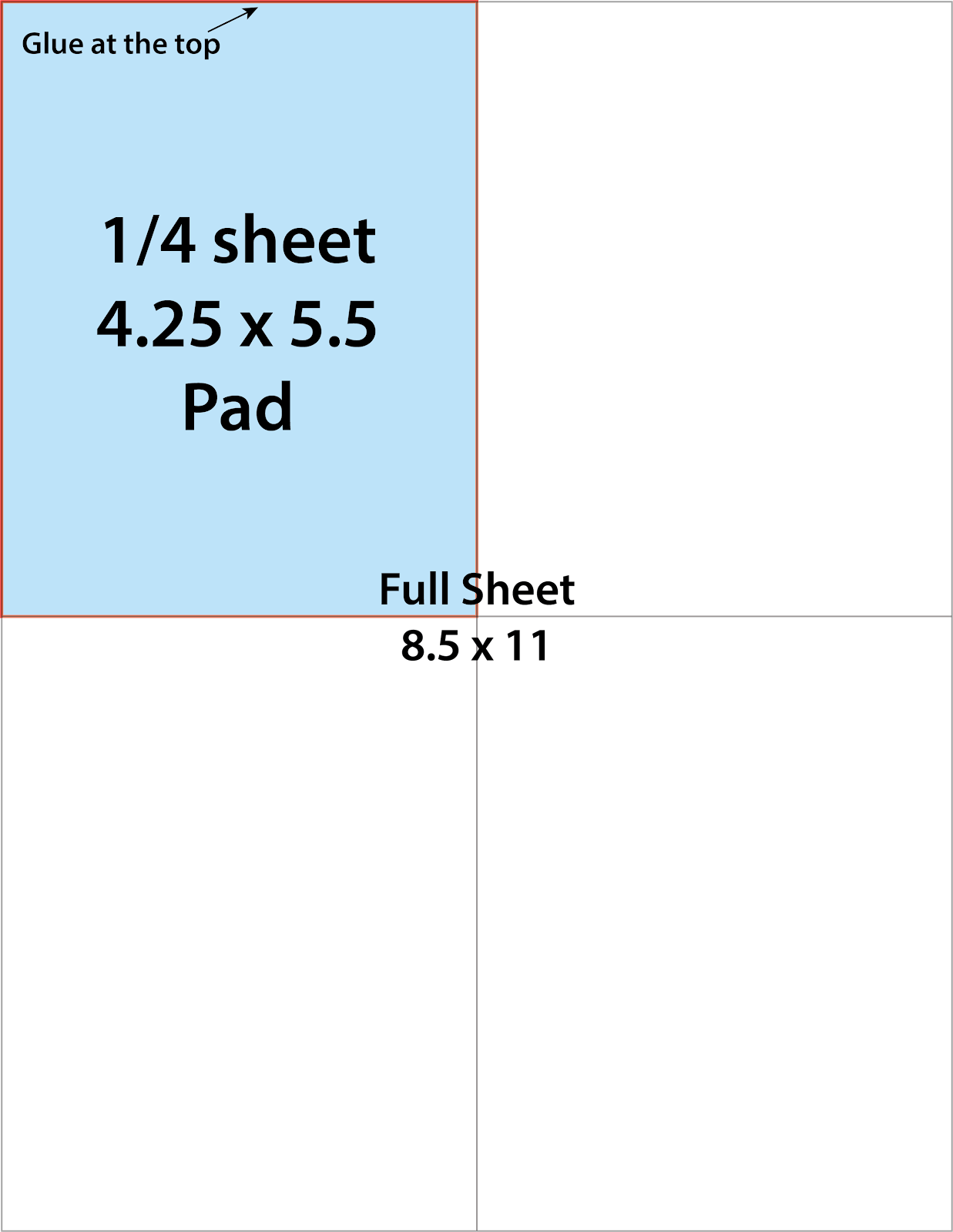 4.25 X 5.5 Notepad Diagram