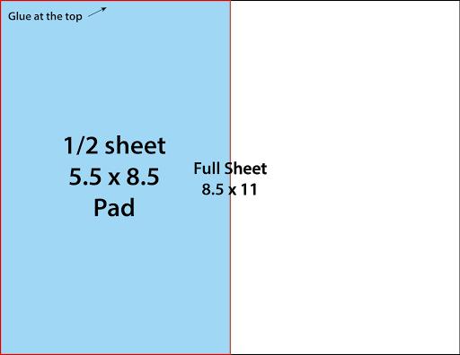 1/2 Sheet Notepad Diagram