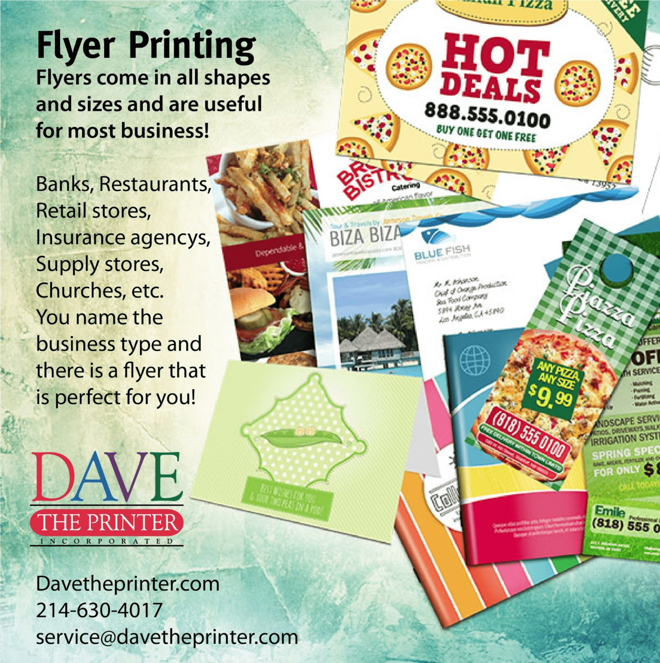 Get flyer printing that you can count on!