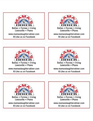 Mamas Daughters Labels Printing